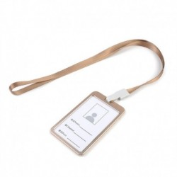 Arany kötél   arany - Alumínium zsebes hitelkártya-jelvénytábla-tulajdonos huzattartó nyakpántos zsinórral