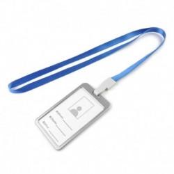 Kék kötél   ezüst - Alumínium zsebes hitelkártya-jelvénytábla-tulajdonos huzattartó nyakpántos zsinórral
