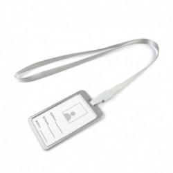 Ezüst kötél   ezüst - Alumínium zsebes hitelkártya-jelvénytábla-tulajdonos huzattartó nyakpántos zsinórral