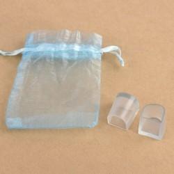 M - 2db / szett Mini hordozható átlátszó PVC női magas sarkú védőburkolat CA