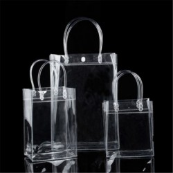 17 * 23 * 7 cm - Hordozható átlátszó vinil átlátszó Tote Gft táska táska pénztárca váll kézitáska PVC US