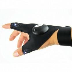 Jobb kéz - Hasznos LED-es fénysugár-kesztyűk villognak Rave Finger Up Lighting Party Glow Work CA