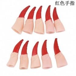 10db vörös ujjak körmök - Halloween jelmezes party Ghost Witch Nose Vampire Zombie Long Fake Finger Nail US