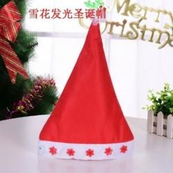Hópelyhek - Karácsonyi santa kalap sapka ünnepek piros fehér jelmez party LED kicsi
