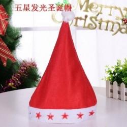 Csillag - Karácsonyi santa kalap sapka ünnepek piros fehér jelmez party LED kicsi