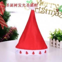 Fa - Karácsonyi santa kalap sapka ünnepek piros fehér jelmez party LED kicsi