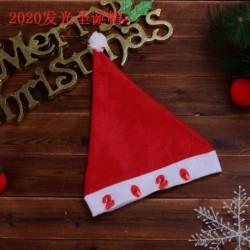 2020 - Karácsonyi santa kalap sapka ünnepek piros fehér jelmez party LED kicsi