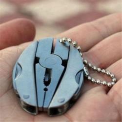 * 13 Mini összecsukható - Unisex kreatív ötvözet fém kulcstartó autó kulcstartó kulcstartó iránytű kulcstartó