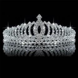 Nincs szín - Tiara haj esküvői kristály vintage gyöngy kiegészítők korona királynő fejpánt menyasszonyi