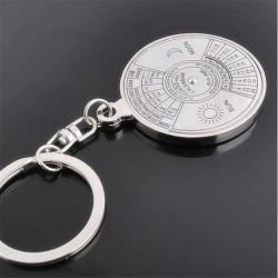 * 24 Örök Naptár - Kreatív fémötvözet kulcstartó kulcstartó unisex kulcstartó iránytű kulcstartó gyűrű