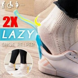 1db - Viseljen cipősegítőket Cipőkürt Lusta segédkezelő Könnyen kezelhető off cipőemelő segítő ~