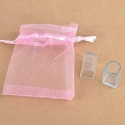 S - 2PCS Mini hordozható átlátszó átlátszó PVC női magas sarkú védőhuzat