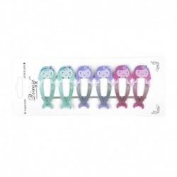 * 2 6db (sellő) - 6db Lányok Gyümölcs Hajcsipeszek Csattanók Hajtűk Baba Mini Barrettes Haj Kiegészítők
