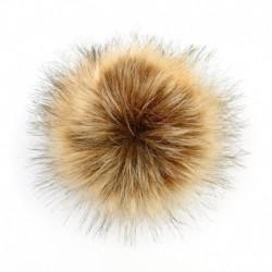 Természetes 2 * - 5 hüvelykes mosómedve bunda bolyhos Pom Pom labda kalap ruházat táska cipő kulcstartó barkácsolás