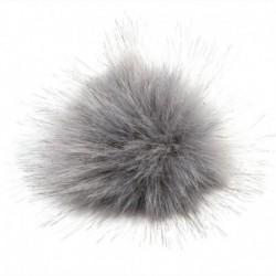 szürke - 5 hüvelykes mosómedve bunda bolyhos Pom Pom labda kalap ruházat táska cipő kulcstartó barkácsolás