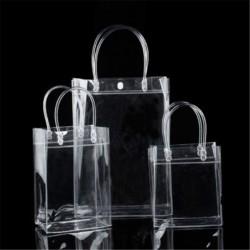 13 * 19 * 8cm - Női átlátszó átlátszó Tote Gft táska pénztárca válltáska PVC méret S / M / L