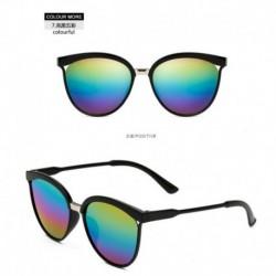 Színes - Vintage női tükörtervező lapos lencsés napszemüveg retro szemüveg szemüveg