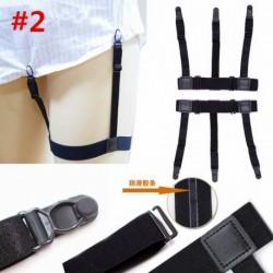 * 2 - 1 páros tartó tartók Rugalmas ing harisnyakötő csúszásgátló reteszelő bilincsek egységes fekete