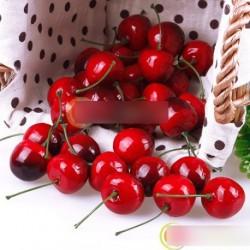 30db Élethű cseresznye Gyümölcs dekoráció