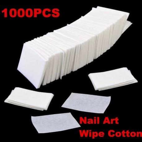 Nincs szín - 1000 db akril UV gél tippek pamut körömlakklemosó tisztító törlőkendő szöszmentes