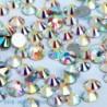 SS16ABďĽˆ4mmďĽ ‰ 1440PCS - 1440db köröm lapos hátsó strasszos csillogó gyémánt drágakövek 3D tippek dekoráció