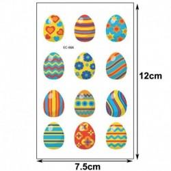 Ideiglenes Tetoválás - vízálló matrica - unisex - Húsvéti mintákkal - 4-es verzió