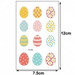Ideiglenes Tetoválás - vízálló matrica - unisex - Húsvéti mintákkal - 2-es verzió