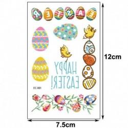 Ideiglenes Tetoválás - vízálló matrica - unisex - Húsvéti mintákkal - 1-es verzió