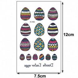 Ideiglenes Tetoválás - vízálló matrica - unisex - Húsvéti mintákkal - 3-as verzió