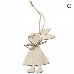 3 * - 3db / szett fából készült húsvéti nyúl DIY fa dekoráció függő kézműves díszek lakberendezés