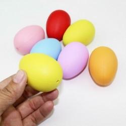 10 db - Műanyag húsvéti tojás csomag Üres húsvéti vadászat tojás vegyes színekben H1B5 játék Z6A0