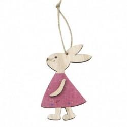 3PCS * 1 - 1 / 3db húsvéti nyúl fa medál dekoráció aranyos nyuszi függő dísz otthon