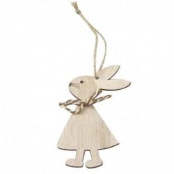 1PC * 3 - 1 / 3db húsvéti nyúl fa medál dekoráció aranyos nyuszi függő dísz otthon