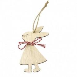 1db * 4 - 1 / 3db húsvéti nyúl fa medál dekoráció aranyos nyuszi függő dísz otthon