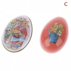 C - Húsvéti nyuszi ötvözet fém csecsebecse húsvéti tojás alakú cukorkás doboz Tinha