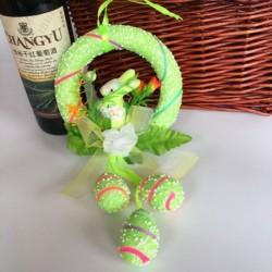 Zöld - Hab húsvéti tojás nyuszi nyúl lógó húsvéti kézműves lakberendezési party szép