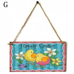 G - 1x fa húsvéti medálok boldog húsvéti dekoráció a házi húsvéti nyuszi tojásajtóhoz