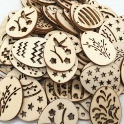 50PCS - 25 / 50db húsvéti függő fa díszek dekorációk kézműves barkács tojás chips chips.