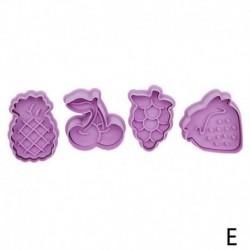 Gyümölcs formák - 4db-os szett - Sütemény formázó - kiszúró forma - E verzió