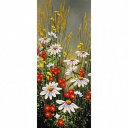 3 * Blumen Gras 100 * 50cm - Teljes körű fúró 5D strasszos kép barkácsolás virágok gyémántfestés