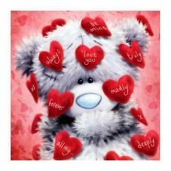* 1 Medve - 5D barkács teljes fúrással gyémántfestés medve keresztszemes hímzés mozaik készlet 9DE