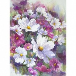 19 * Virág-B1603 30 x 40 cm - 5D kerek gyémántfestés Stickerei Bild Handarbeiten lakberendezési mozaik készlet