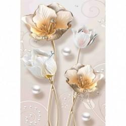 Nincs szín - 5D barkács részfúró gyémántfestés virág különleges alakú gyanta strassz