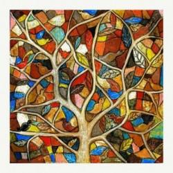 Nincs szín - 5D barkács teljes fúrással gyémántfestés fa keresztöltés mozaik kézműves készlet dekoráció