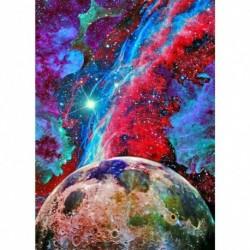 Nincs szín - Planet 5D barkács teljes körű fúró gyémántfestés függő dekor gyöngyház készletek