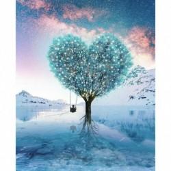 Nincs szín - Gyémántfestő készlet teljes fúróval Geschenk Love Tree 5D DIY Teilbohrer spezi