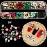 9 * - 12 rács / doboz aranyos vegyes varázsa fém körömművészet barkácspalack manikűr tippek dekorok CA
