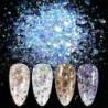 Nincs szín - 8 doboz / készlet Nail Art Glitter flitterek Pelyhek Sparkly 3D Hexagon UV gél dekorációval