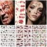 * 2 - Ragasztó arc ideiglenes tetováló matrica Halloween Terror vízálló pók heg