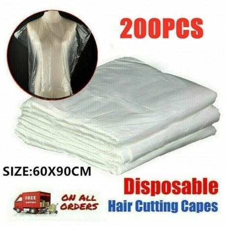Nincs szín - 200X eldobható hajvágó köpeny fodrász fodrász kötény festő ruha köpeny